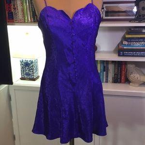 Victoria's Secret Purple Satin Chemise Size Small